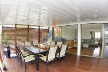 High level timber deck, kwila privacy screen, Manly