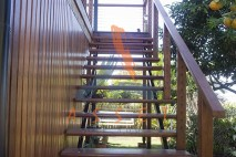 Kwila Stairs, the finishing touch