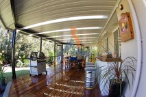Low level timber deck, stainless steel balustrade, Ipswich 1