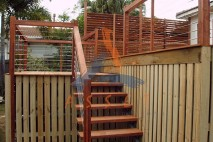 Multi level timber deck, Bulimba 1