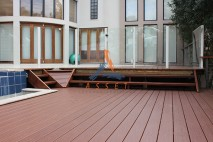 Pool deck, long life decking, St Lucia 3
