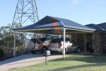 Dutch gable style carport, custom designed, Redbank Plains (1)