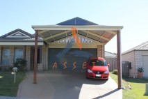 Dutch gable style carport, stylish infill, Oxley