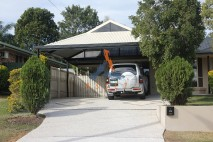 Dutch gable style carport, stylish infill, Redbank Plains