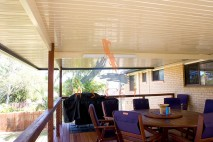 Flat patio, single skin, Flinders View