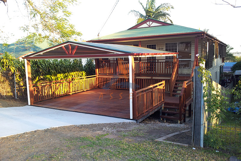 Carports brisbane ipswich brisbane carport builders for Carport deck