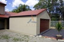Gable style carport, tile roof, Camira