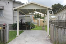 Gable style carport, traditional, Ipswich (1)