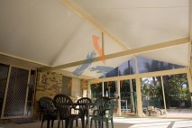 Gable style patio, insulated, Karana Downs 1