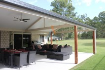 Gable style patio, insulated, Logan Reserve