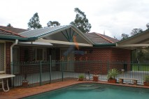 Gable style patio, single skin, Albany Creek