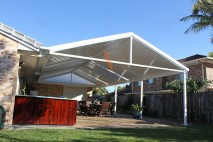 Gable style patio, single skin, Calamvale