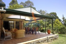 Gable style patio, single skin, Karalee 1
