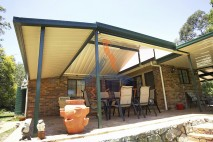 Gable style patio, single skin, Karalee