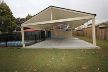 Gable style patio, single skin, Redbank Plains (2)
