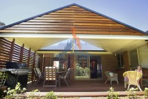 Gable style patio, single skin, The Gap