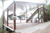 Insulated roof on steel carport deck, Toowong (1)