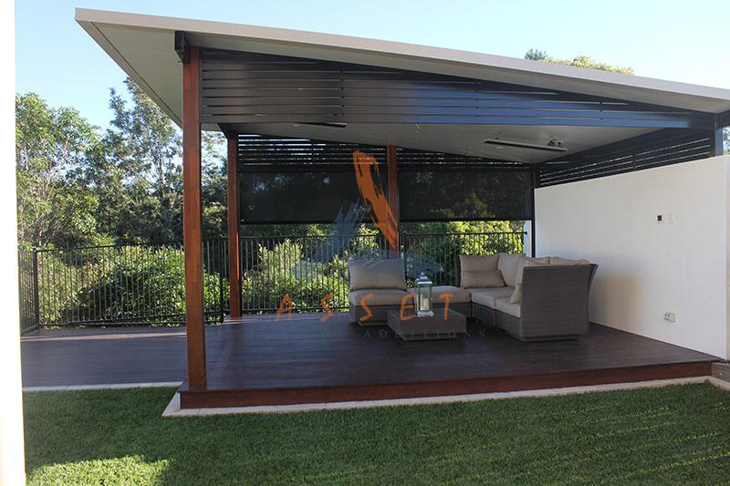 Brisbane ipswich high level timber decking deck for Timber decking around pools