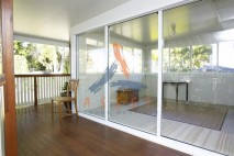 Glass patio enclosure built in Ipswich QLD