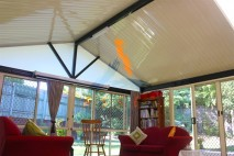 Patio enclosed with glass, South Brisbane