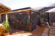 Screen patio enclosure, built in Parkinson on Brisbane Southside