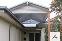 Flyover insulated gable entryway patio porch