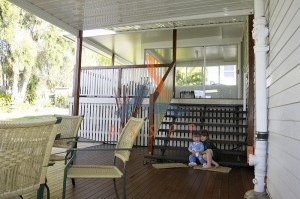 Low level timber deck, multi level, East Ipswich