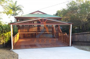 Steel frame deck, timber decking, Salisbury (1)